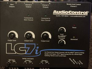 AudioControl LC7i Black 6-Channel Line Output Converter with Bass Restoration for Sale in Queens, NY