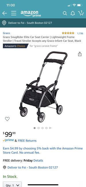Graco snugrider elite car seat stroller (lightweight frame) for Sale in Boston, MA