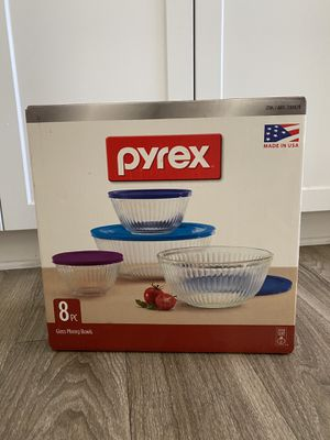 Pyrex 8pc glass bowls for Sale in Santa Clarita, CA