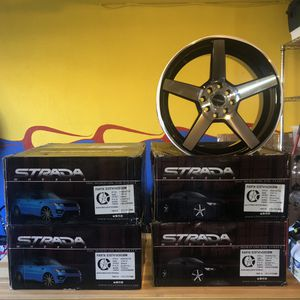 Strada Perfetto Rims S35 Gloss Black Machined for Sale in Graham, WA