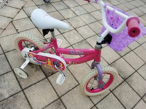 12'' Huffy Disney Princess Girls Bike with training wheels for Sale in Tampa, FL