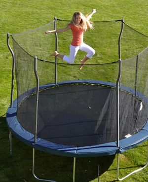 """Good Times w/ 12"""" Round Trampoline and Safety Enclosure for Sale in Woodland Hills, CA"""