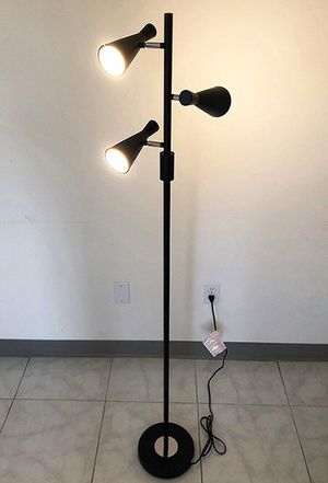 New in box $30 LED 3-Light Floor Lamp 5ft Tall Adjustable Tilt Light Fixtures Home Living Room Office for Sale in Santa Fe Springs, CA
