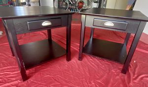 22Wx22Lx22H Black End tables(2) for Sale in Brandon, FL