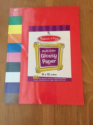 Melissa & Doug Glossy paper. 50 sheets. Brand new for Sale in Peoria, IL
