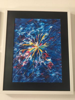 Original Abstract Art. Framed Canvas Panel (Without Glass) for Sale in Newcastle, WA