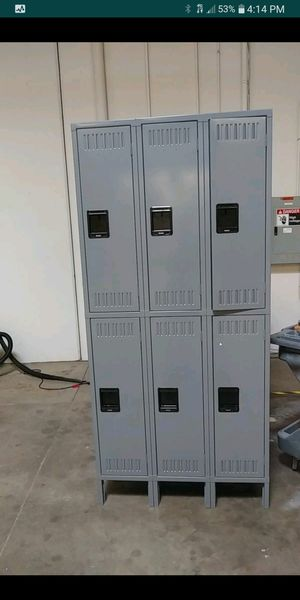 Three wide double tier lockers with legs... for Sale in Grand Prairie, TX