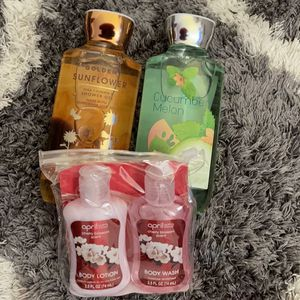 2 body Washes With A two Pack Of Mini Lotion And Body Wash for Sale in Fort Washington, MD