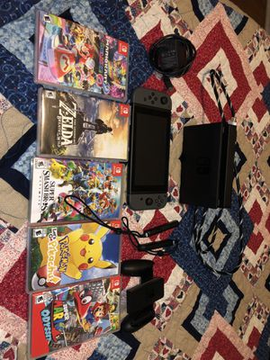 NINTENDO SWITCH + GAMES/ ACCESSORIES BUNDLE for Sale in Durham, NC