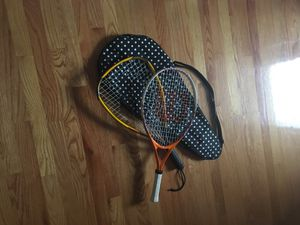 Two tennis rackets and one cover for Sale in Chicago, IL