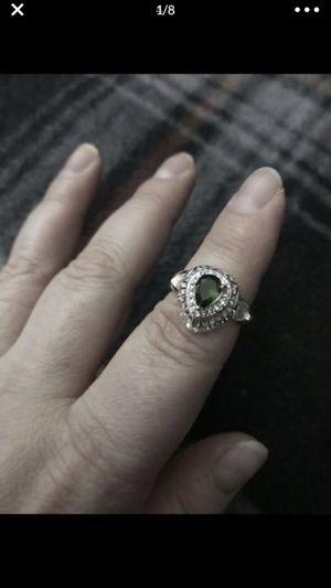 Beautiful sterling sliver green stone ring for Sale in San Bernardino, CA