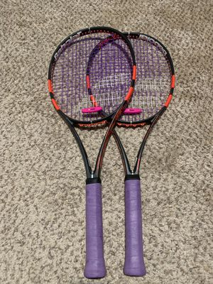 Two Babolat Pure Strike Tennis Rackets for 200 or 1 for 100 for Sale in Clovis, CA