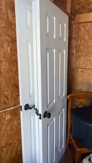3 doors with handles regular sized inside doors for Sale in Norfolk, VA