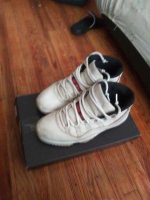 White & Red retro 11 Jordan's with box for Sale in Detroit, MI