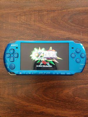 Modded PSP BLUE 3000 w/ over 1000 Games (PSP, PS1, Sega Genesis, N64, Gameboy Color & Advance and Super Nintendo Games) for Sale in Riverside, CA