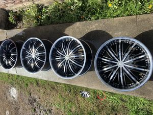 "20"" black ice rims for Sale in Bakersfield, CA"