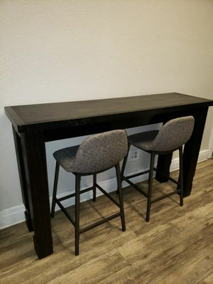 Antique Black Sofa Table with 2 Stools for Sale in Chino, CA