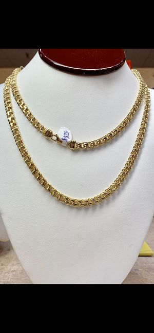 10 karat gold chino link chain custom made 52 g ( item #M252) for Sale in Houston, TX