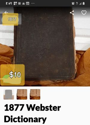 1877 WEBSTER'S DICTIONARY for Sale in Tacoma, WA
