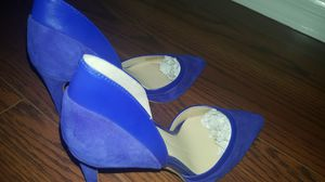 Gianni bini brand new shoes in royal blue upper hand suede amazing shoes in size 7 for Sale in Lehigh Acres, FL