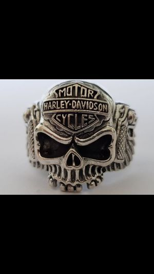 Harley Davidson skull and revolver ring for Sale in Cleveland, OH