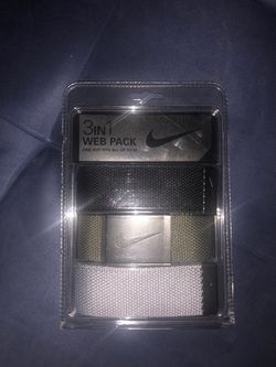 Nike 3 color way belts for Sale in Paramount,  CA