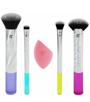 Real techniques limited edition neon lights 5 piece makeup brush set by Sam & nic NEW in box for Sale in Brooklyn, NY