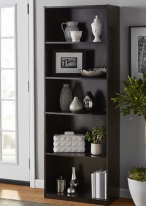 "New!! Bookcase, bookshelves, storage unit, shelving display, organizer, 5 71"" shelf bookcase, living room furniture , espresso for Sale in Phoenix, AZ"
