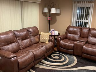 Luxury Living room Reclining Leather sofa set🔥 for Sale in Warminster,  PA