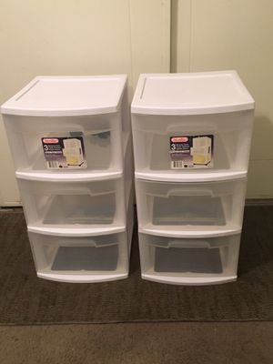 Serlite Storage Containers. 3 Drawers . $10each for Sale in Los Angeles, CA
