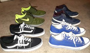 MEN SHOES BUNDLE SIZE 10.5 NIKES,,VANS AND CONVERSE ALL ORIGINAL SELLING THEM TOGETHER $85 for Sale in La Habra, CA
