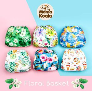 Mama Koala One Size Baby Washable Reusable Pocket Cloth Diapers, 6 Pack with 6 One Size Microfiber Inserts for Sale in Whittier, CA