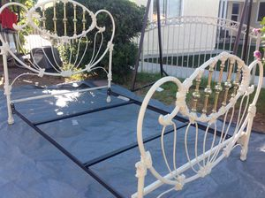 Cast iron bed size full size frame pick up only no included mattress for Sale in San Bernardino, CA