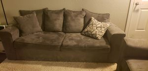 Great grey couch and chair set for Sale in Newcastle, WA