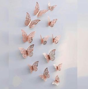 Beautiful NEW 3D Rose Gold Butterfly Wall Decor for Sale in San Diego, CA