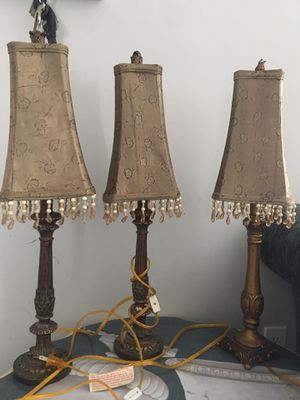 3 lamps for Sale in Browns Mills, NJ