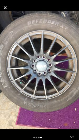 Katana racing wheel rims with michellin tires for Sale in San Diego, CA