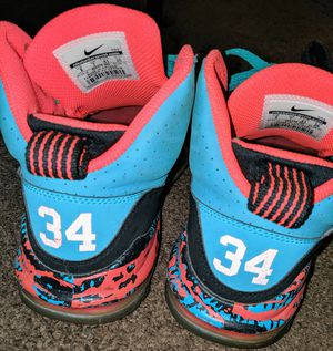 NIKE size 8 teal & hot pink sneakers hightop for Sale in York, PA