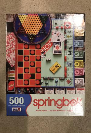 500 piece puzzle springbok board games for Sale in Mercer Island, WA