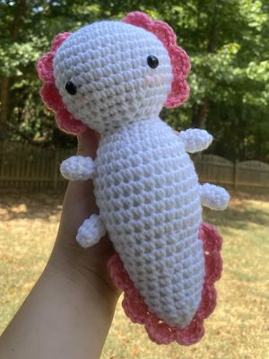 Crochet Axolotl Plushie for Sale in Stokesdale, NC