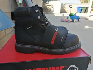 Brand new wolverine FLOORHAND work boots. Steel toe. Waterproof. Size 9.5 and 11 for Sale in Riverside, CA