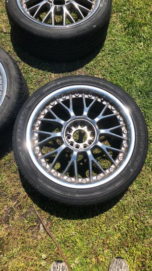 3 Mustang rims/ tires (universal) 245/40/18 for Sale in Wilson, NC