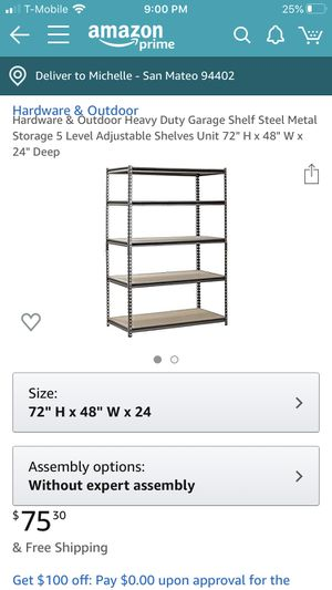 Garage storage shelving for Sale in San Mateo, CA