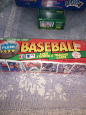 Fleer 1990 10th anniversary edition baseball cards logo stickers and trading cards 660 cards and 45 stickers complete set unopened box for Sale in Portland, OR