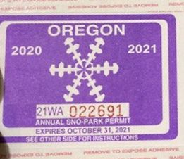 Annual Snopark Pass for Sale in Portland,  OR