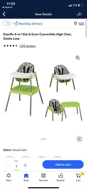 Evenflo 4 in 1 conventional high chair for Sale in Tempe, AZ