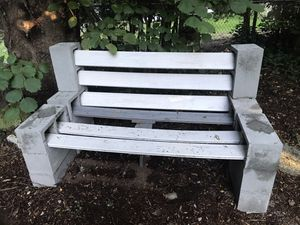 Free bench - cinder blocks and trex boards for Sale in Lynnwood, WA