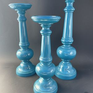 Teal Tiered Candle Stick Holders for Sale in Rowland Heights, CA