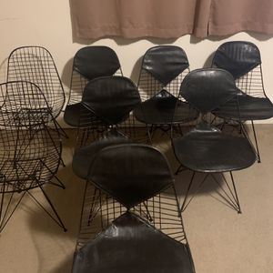 Set of 8 vintage Herman Miller eames DKR-2 wire chairs for Sale in Cicero, IL