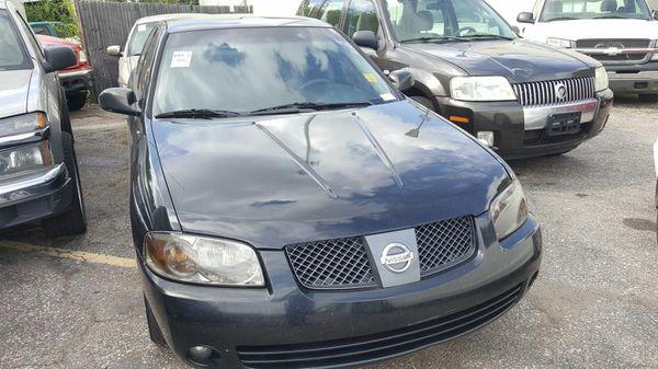2006 Nissan Sentra Black on Black